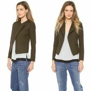 Vince Olive Green High Double Closure Wool Jacket